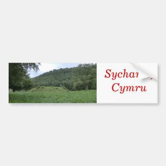 Sycharth - la maison d'Owain Glyndŵr Adhésif Pour Voiture