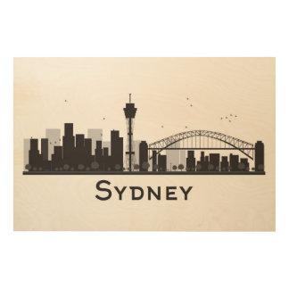 Sydney, Australie horizon noir et blanc de | de Impressions Sur Bois