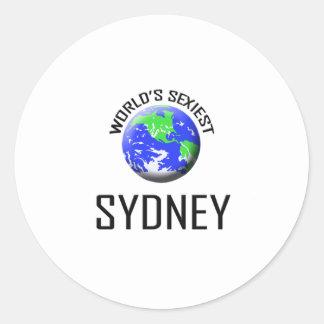 Sydney le plus sexy du monde adhésifs ronds