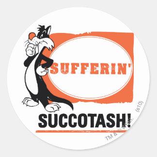 SYLVESTER™ Sufferin Succotash ! Sticker Rond