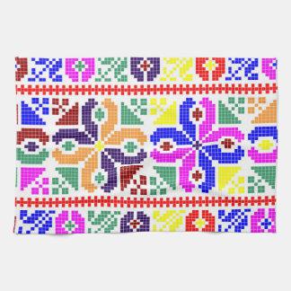 sym ethnique traditionnel de motif de motif de linge de cuisine