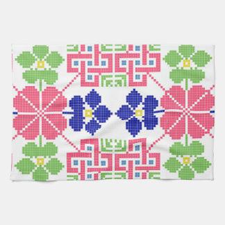 sym ethnique traditionnel de motif de motif de serviettes éponge