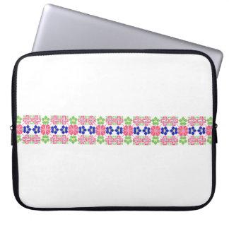 sym ethnique traditionnel de motif de motif de trousse pour ordinateur portable