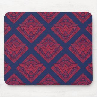 Symbole amazonien de femme de merveille tapis de souris