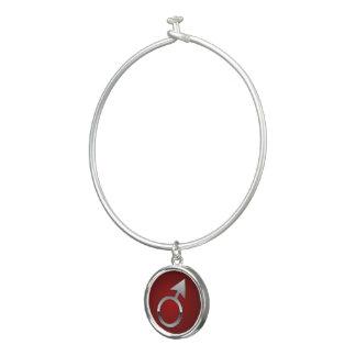 Symbole argenté de Mars de bracelet