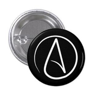 Symbole athée : blanc sur le noir pin's