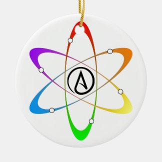 Symbole athée d'atome ornement rond en céramique