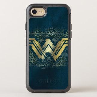 Symbole balayé d'or de femme de merveille coque otterbox symmetry pour iPhone 7