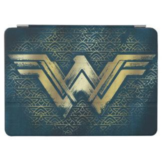 Symbole balayé d'or de femme de merveille protection iPad air