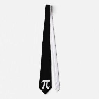 Symbole blanc de pi sur l'arrière - plan noir cravates personnalisables