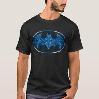 Symbole bleu de batte de fumée t-shirt