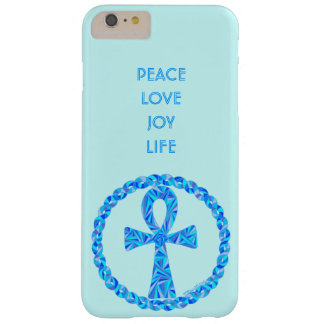 Symbole bleu Egypte antique Wicca de Z Ankh Coque iPhone 6 Plus Barely There