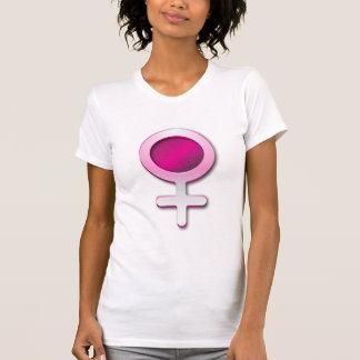 Symbole brillant de femme de genre de T-shirt