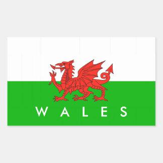 symbole britannique de gallois de nation de sticker rectangulaire