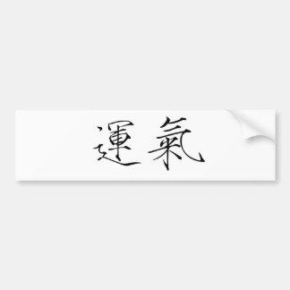 Symbole chinois pour la chance autocollant pour voiture