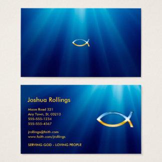 Symbole chrétien | de poissons inspiré cartes de visite