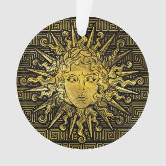 Symbole d'Apollo Sun sur le motif principal grec