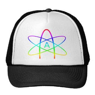 Symbole d'athée d'arc-en-ciel casquettes de camionneur
