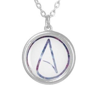 Symbole d'athée de l'espace pendentif rond