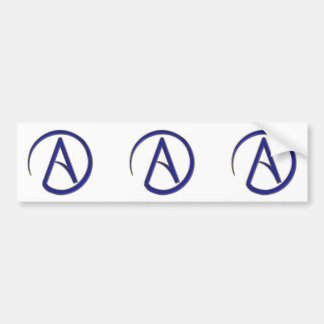 Symbole d'athéisme autocollant pour voiture
