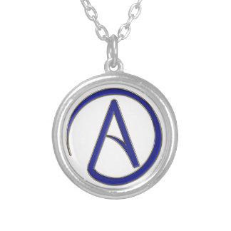 Symbole d'athéisme pendentif rond