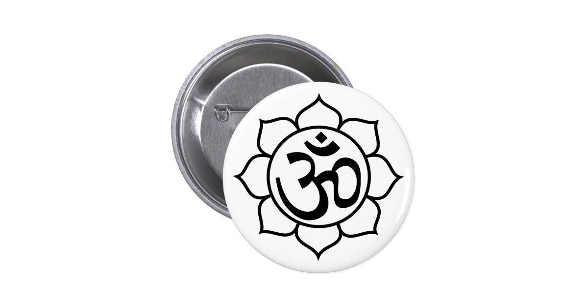 symbole d 39 aum de fleur de lotus badges zazzle. Black Bedroom Furniture Sets. Home Design Ideas