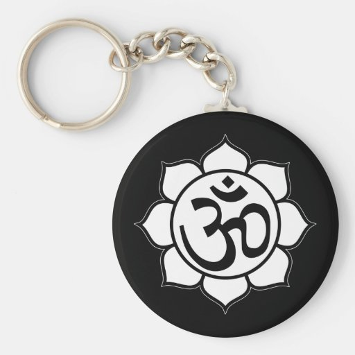 Symbole d'Aum de fleur de Lotus Porte-clef