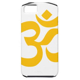 Symbole d'Aum (or avec l'anneau noir) Étuis iPhone 5