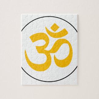 Symbole d'Aum (or avec l'anneau noir) Puzzle