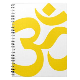 Symbole d'Aum (or jaune en couleurs) Carnets