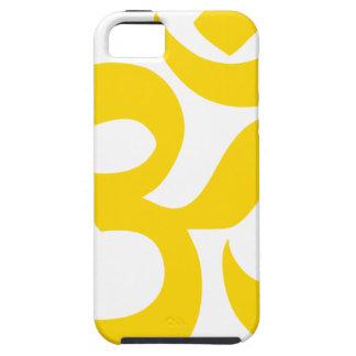 Symbole d'Aum (or jaune en couleurs) Coque Tough iPhone 5