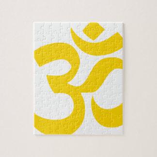 Symbole d'Aum (or jaune en couleurs) Puzzle