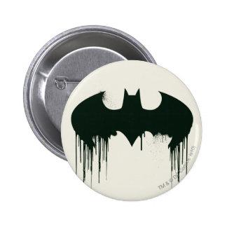 Symbole de batte - logo Spraypaint de Batman Badge Rond 5 Cm