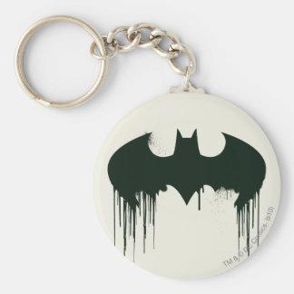 Symbole de batte - logo Spraypaint de Batman Porte-clé Rond