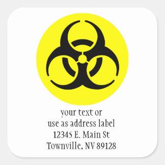 Symbole de BioHazard Sticker Carré