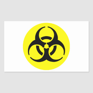 Symbole de BioHazard Sticker Rectangulaire