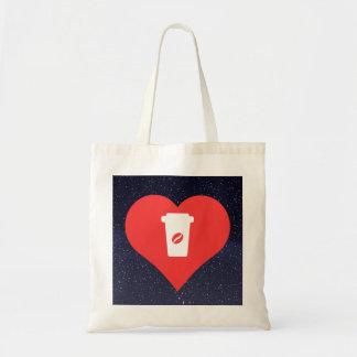 Symbole de café noir sac en toile budget