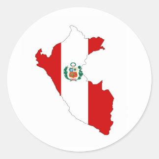 symbole de carte de forme de drapeau de pays du sticker rond