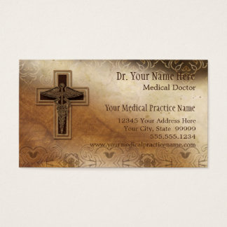 Symbole de chrétien de médecin pratique de médecin cartes de visite