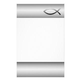 Symbole de chrétien de poissons d'Ichthys Jésus Papier À Lettre Customisé