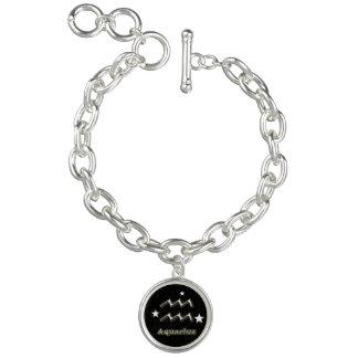 Symbole de chrome de Verseau Bracelets Avec Breloques