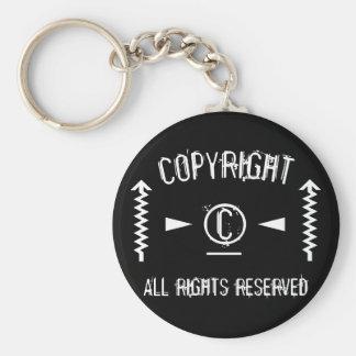 Symbole de Copyright tous droits réservés avec des Porte-clé Rond