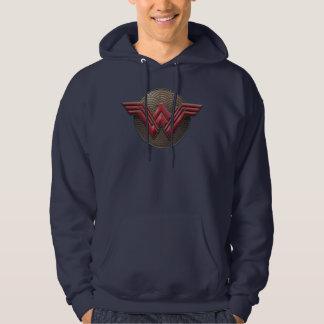 Symbole de femme de merveille au-dessus des veste à capuche