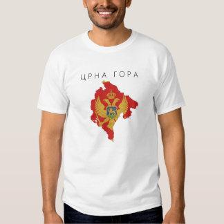 symbole de forme de carte de drapeau de pays du t-shirt