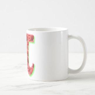 Symbole de framboise et de pi mug