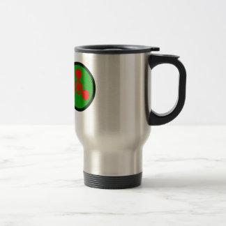 Symbole de gaz de sarin mug de voyage en acier inoxydable