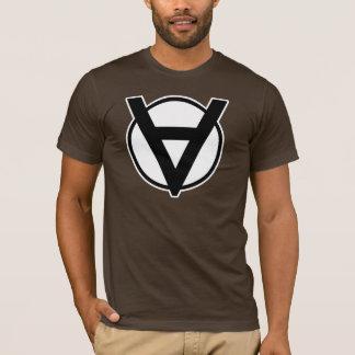 Symbole de héros de Voluntaryist avec la frontière T-shirt