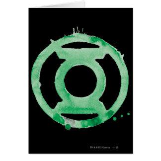 Symbole de lanterne de café - vert carte de vœux