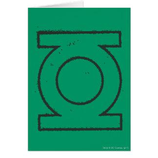 Symbole de lanterne vert BW Carte De Vœux