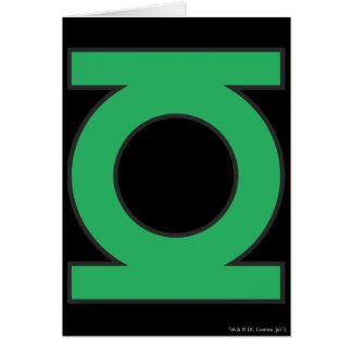 Symbole de lanterne vert carte de vœux